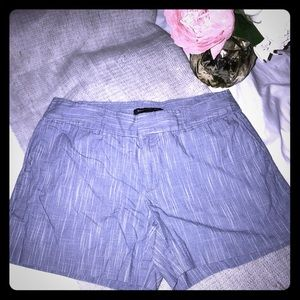 "BR Blue with white shorts, 3"" inseam, Size 0 EUC"